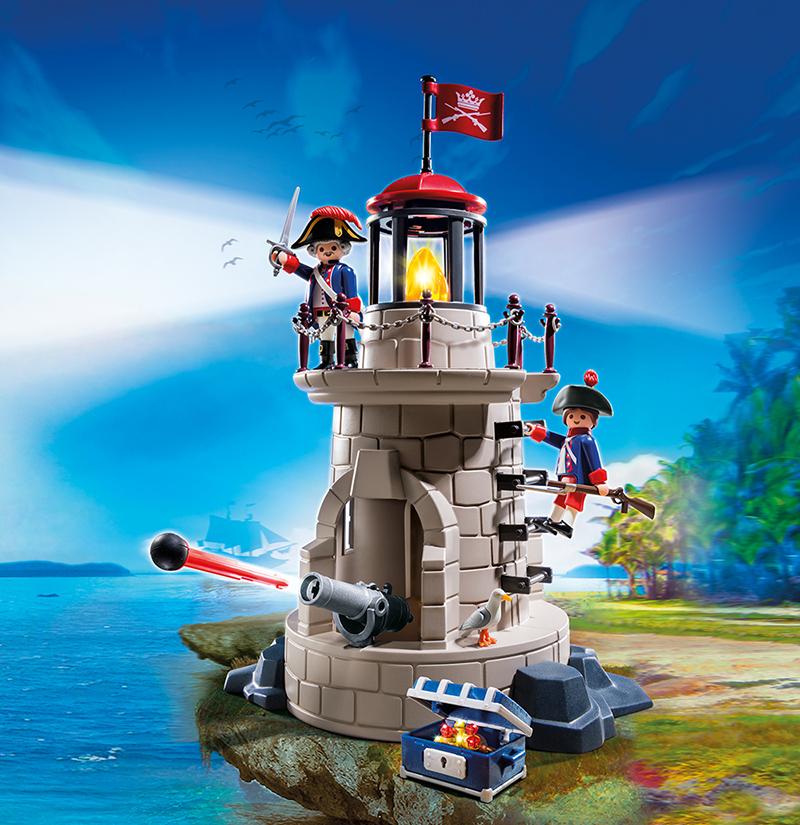 Phare lumineux avec soldats - Playmobil - 6680