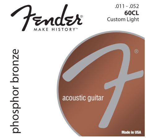 PHOSPHOR BRONZE ACOUSTIC GUITAR STRINGS, BALL END, 60CL .011-.052