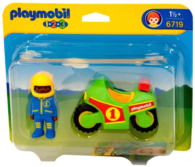 Pilote et moto de course - Playmobil 1.2.3 - 6719