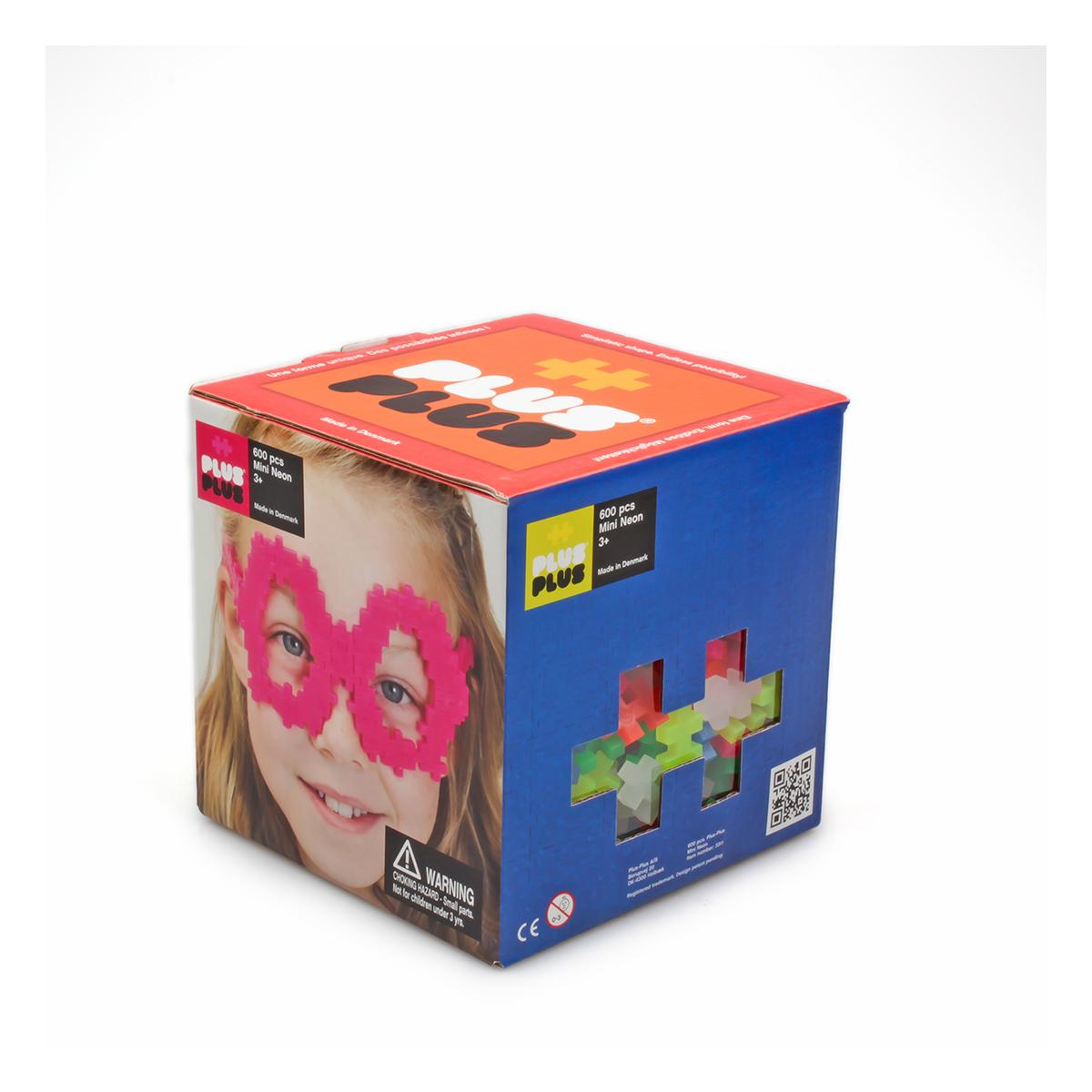 Plus Plus Box mini néon - 600 pièces