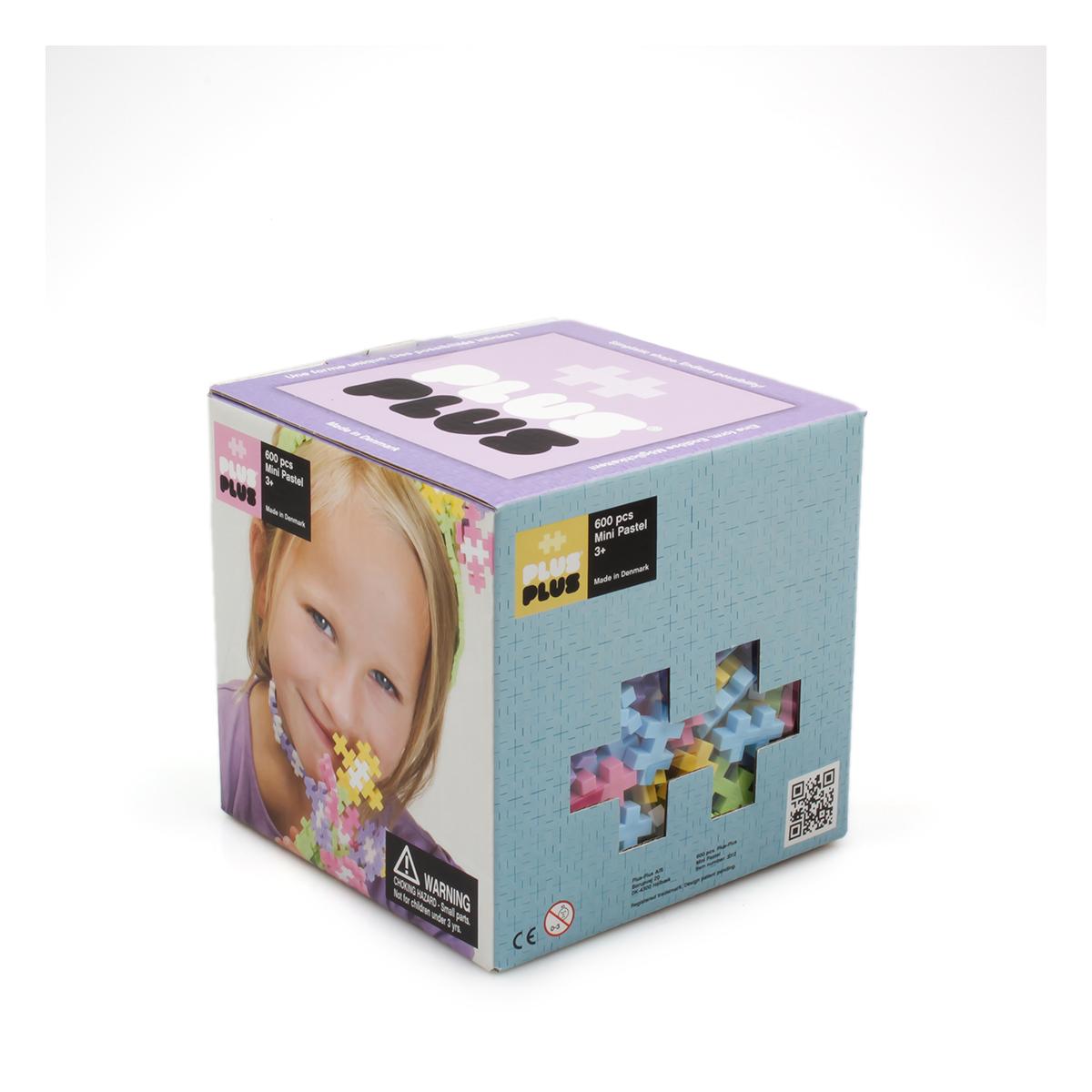 Plus Plus Box mini pastel - 600 pièces