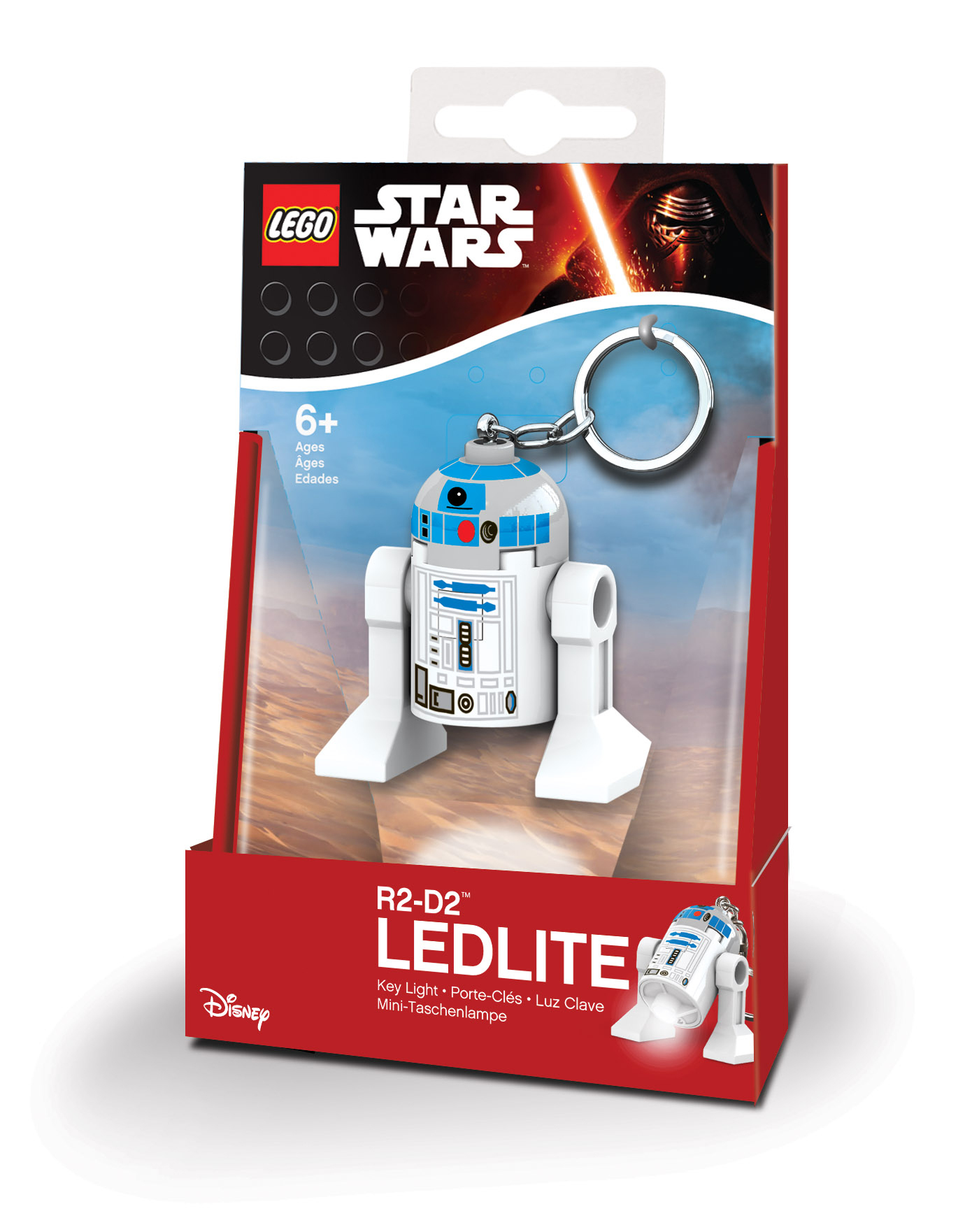 Lego Star Wars - Porte-clés LED R2D2
