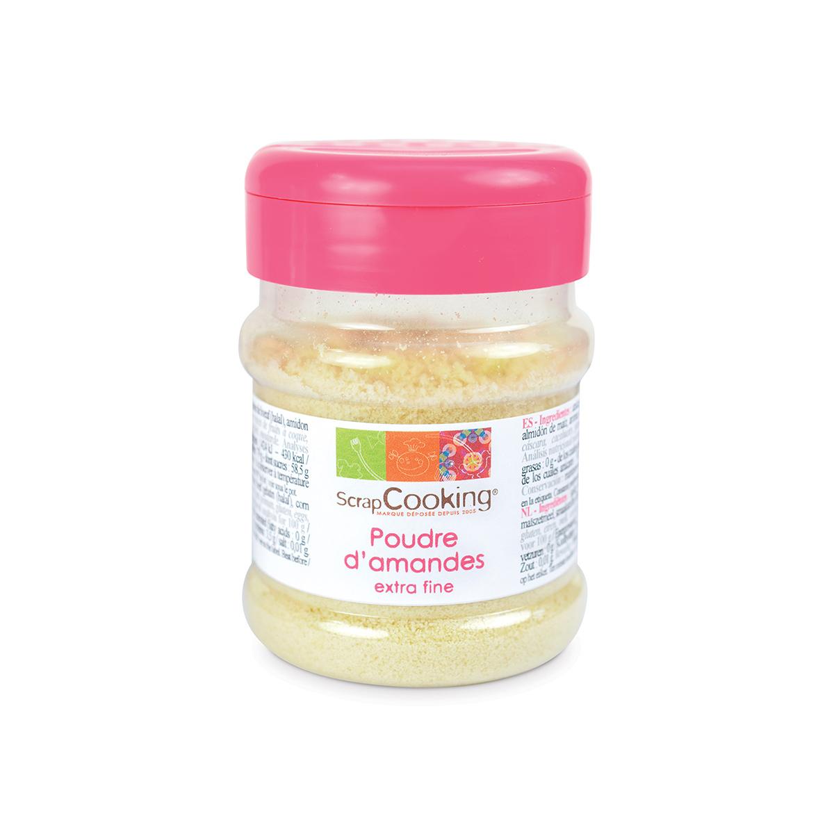Image du produit Pot de poudre d'amande extra fine 90g - Scrapcooking