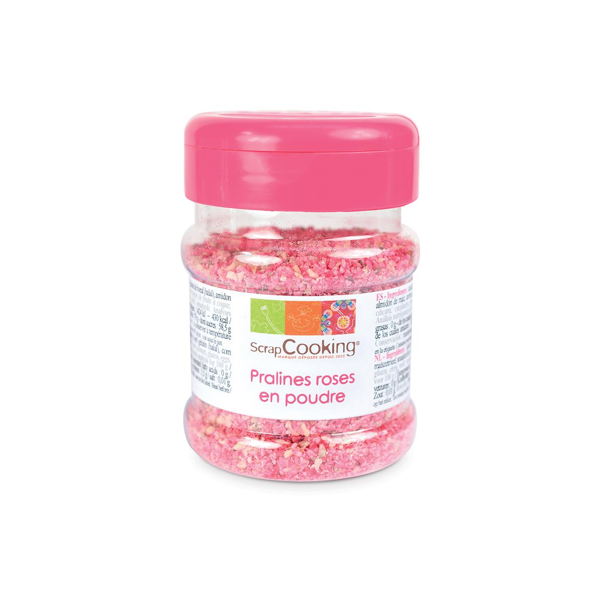 Image du produit Pot de pralines roses en poudre 130g - Scrapcooking