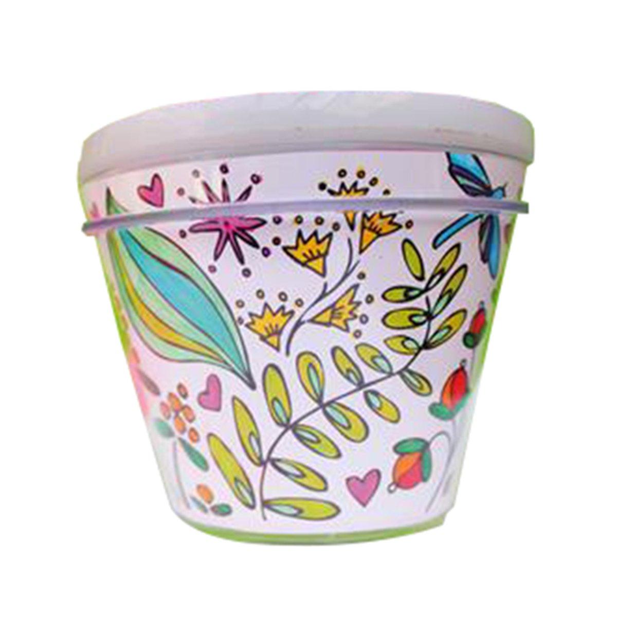 Pot de fleurs plastique à décorer