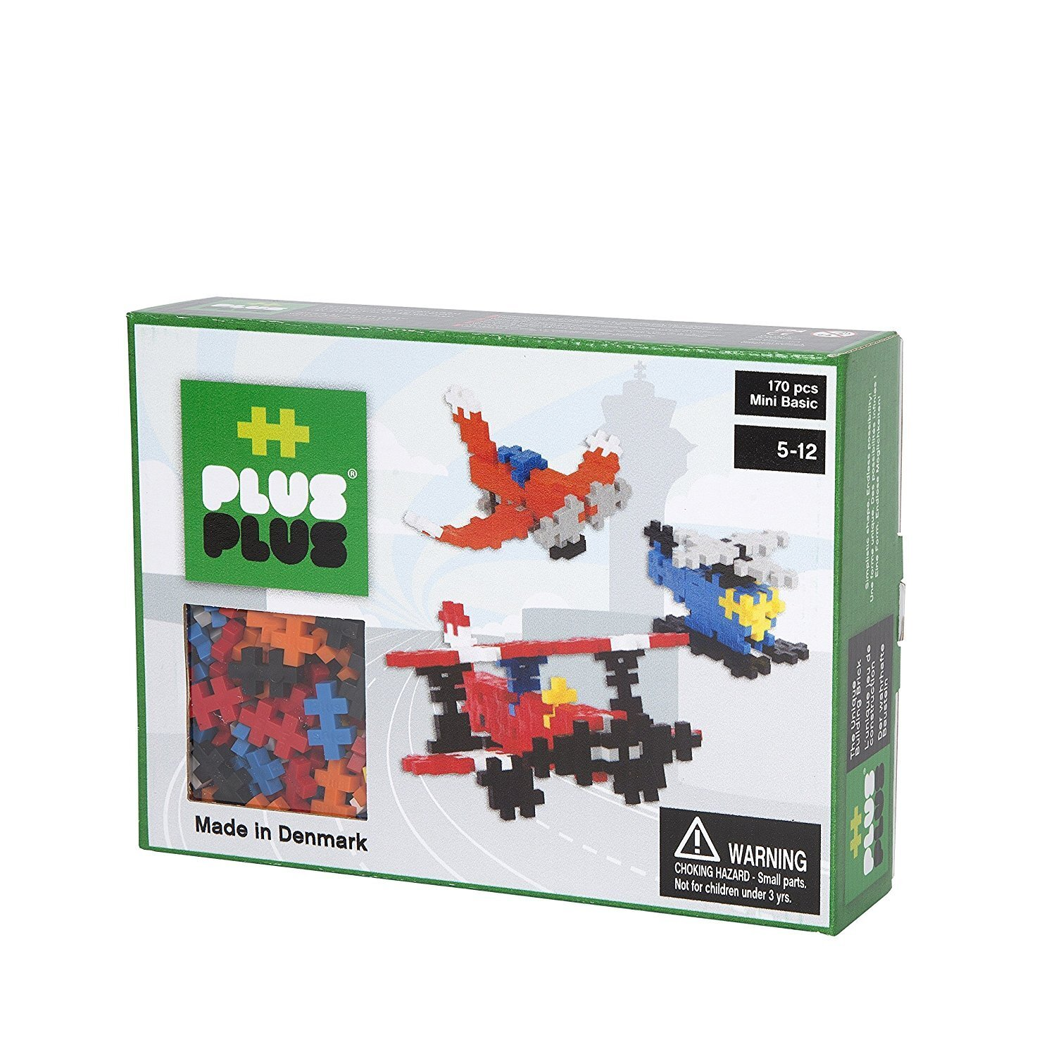Plus Plus Box mini basic - 170 pièces - aviation