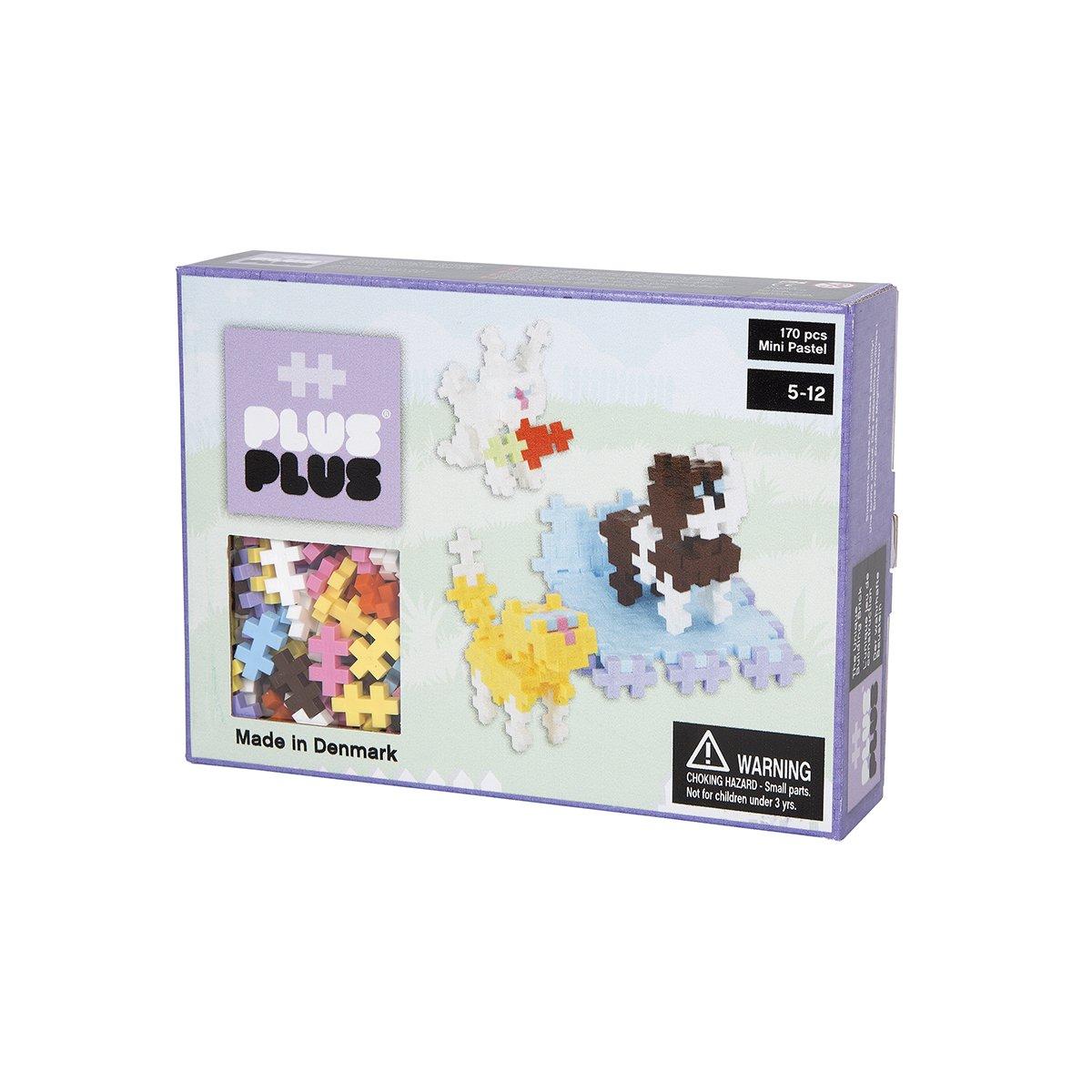 Plus Plus Box mini pastel - 170 pièces - animaux