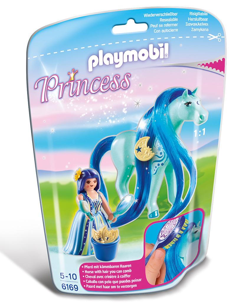 Princesse Bleuet avec cheval à coiffer - Playmobil - 6169