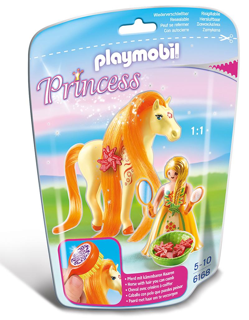 Princesse Mimosa avec cheval à coiffer - Playmobil - 6168