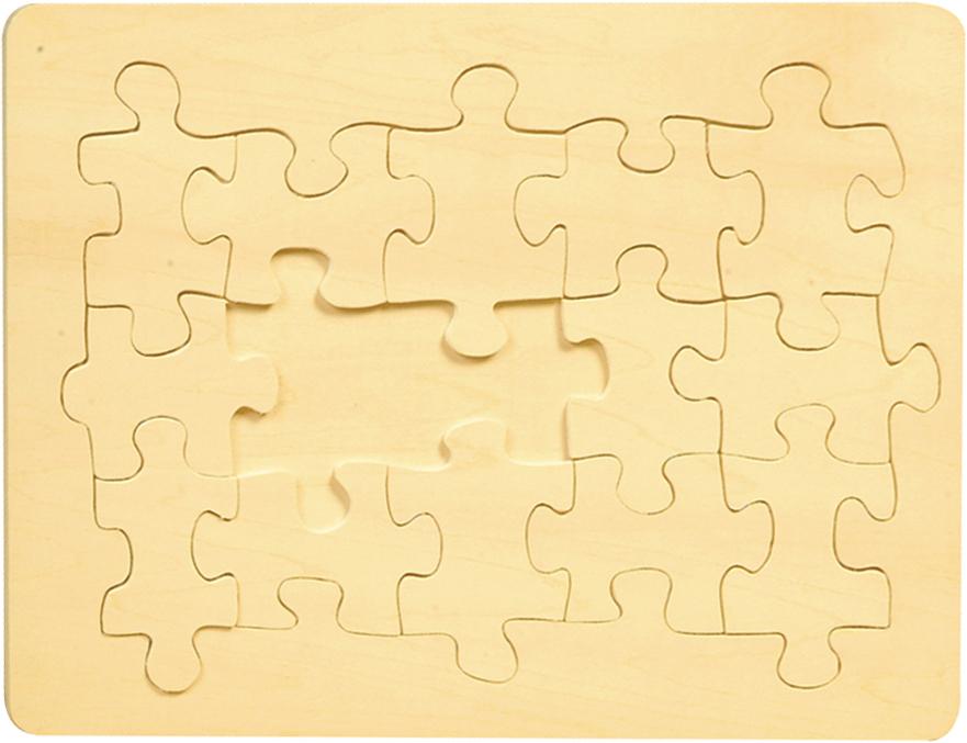 Puzzle en bois brut - 15 pièces