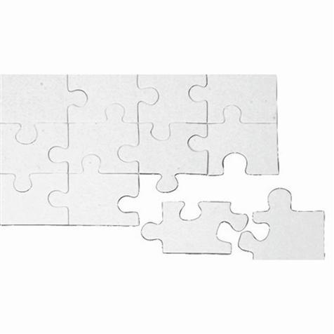 Puzzle en carton rectangulaire 12 pièces