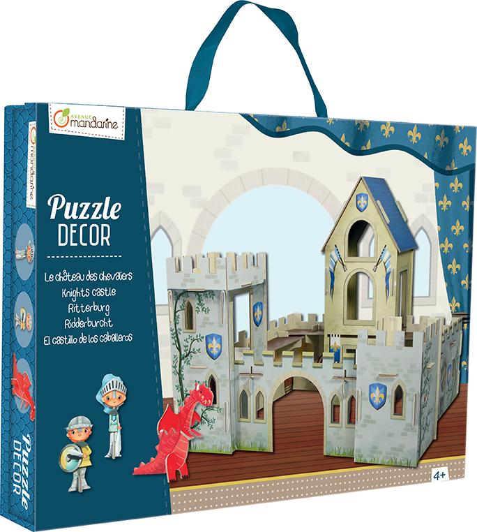 Puzzle décor - château de chevaliers - Avenue Mandarine