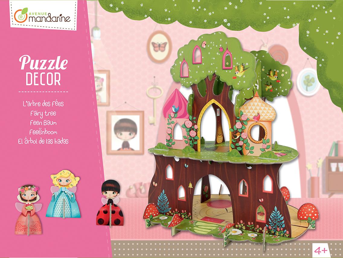Puzzle décor - L'Arbre de fées - Avenue Mandarine