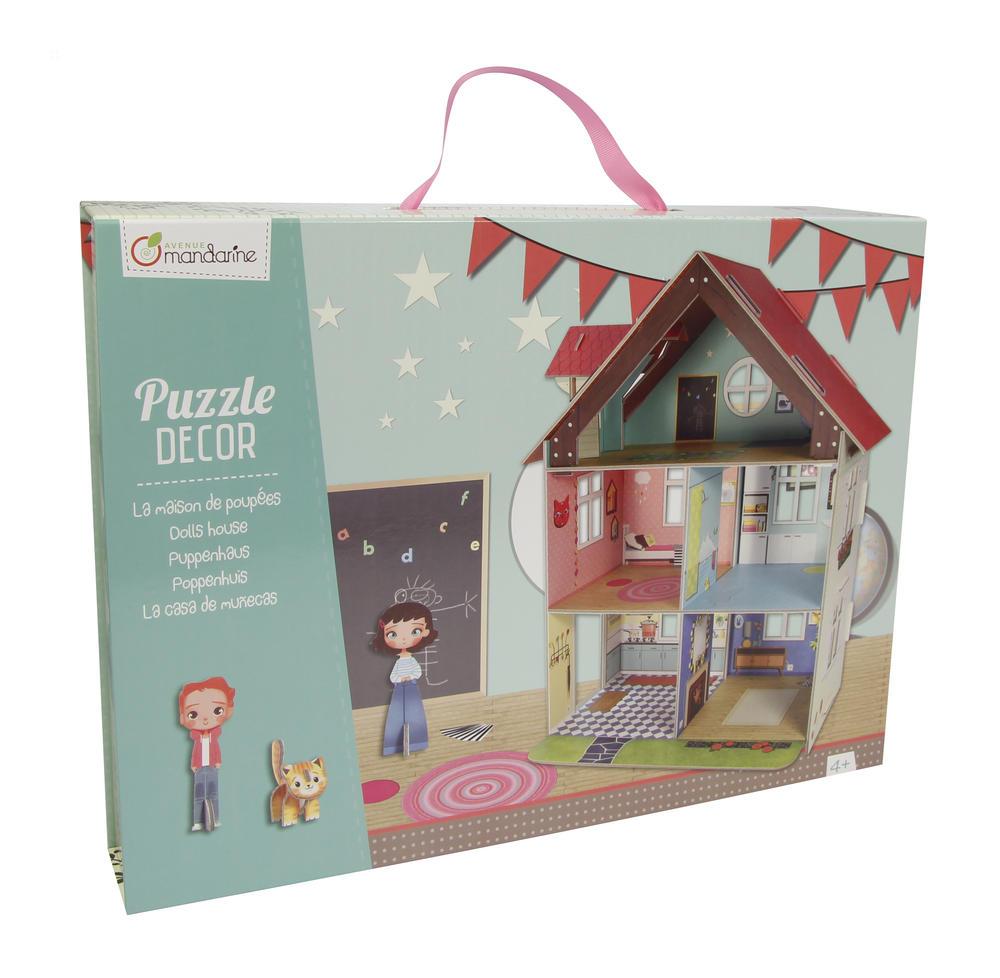Puzzle décor - maison de poupées - Avenue Mandarine