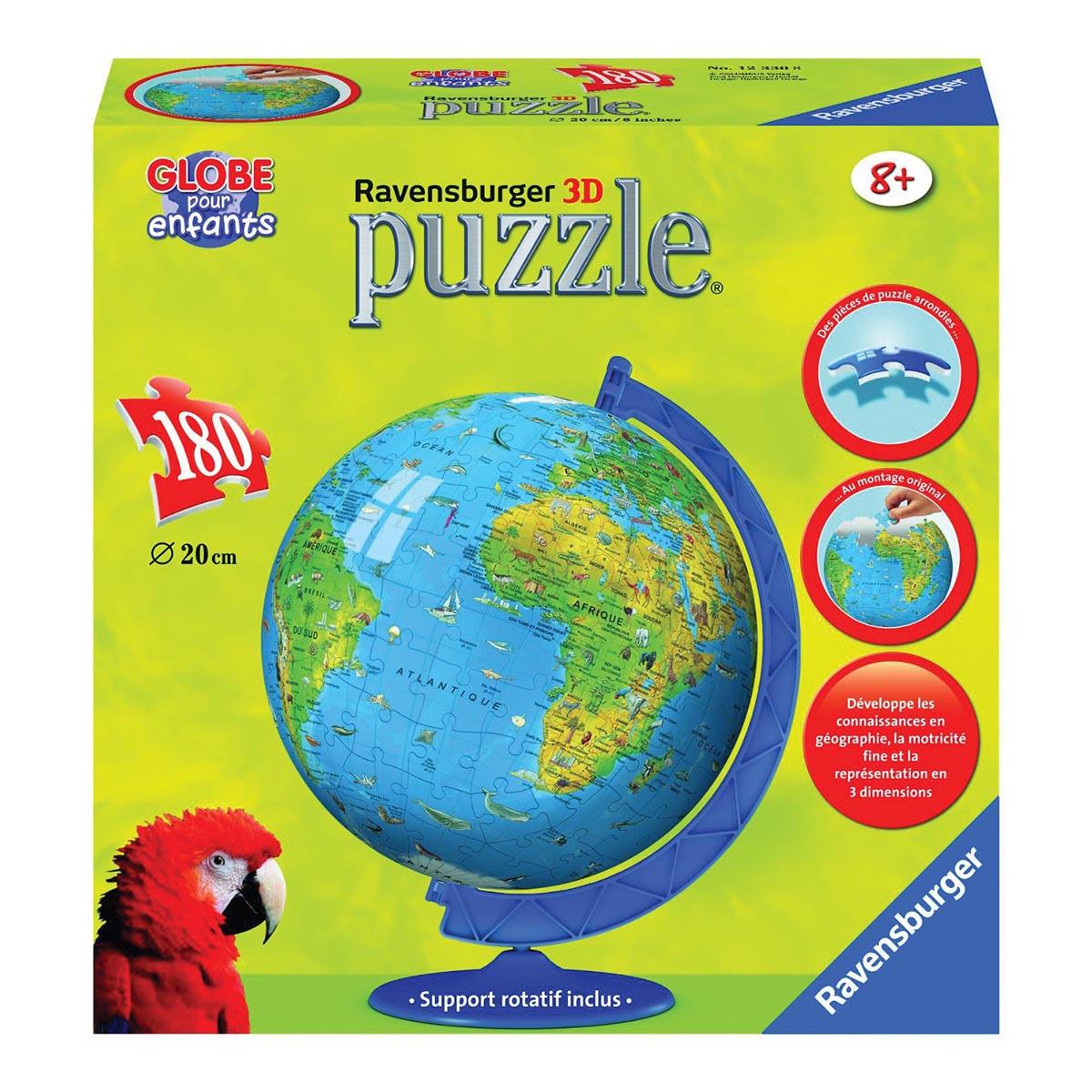 Puzzle 3D mappemonde 180 pièces