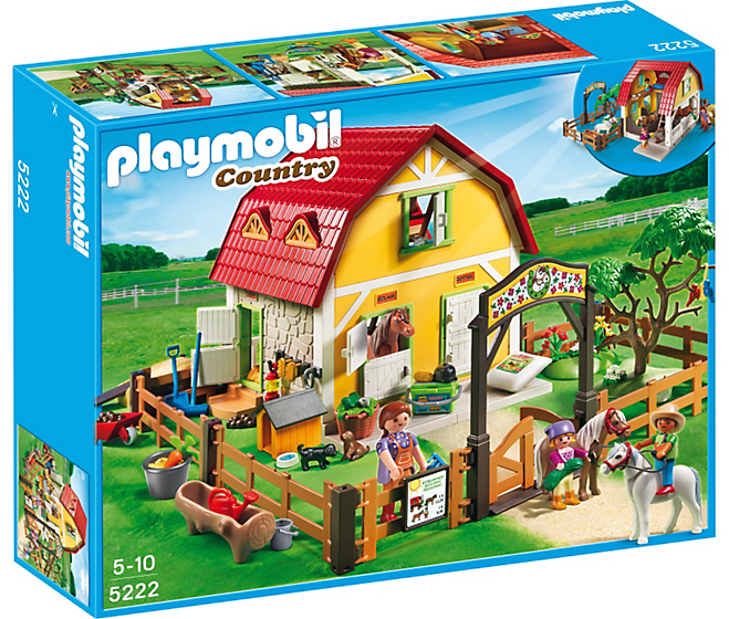 Ranch avec poneys - Playmobil Country 5222