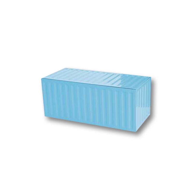 1 boîte de rangement container - bleu