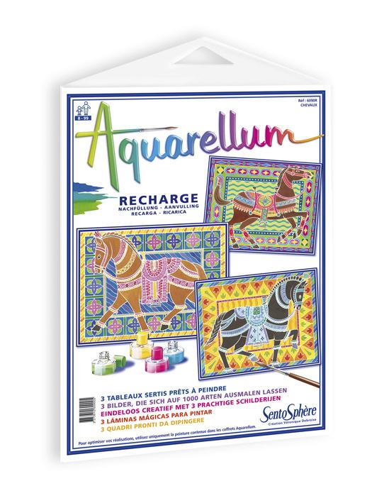 Recharge Aquarellum grand modèle - Chevaux