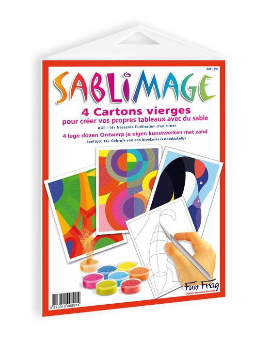 Sablimage - Recharge 4 cartons neutres