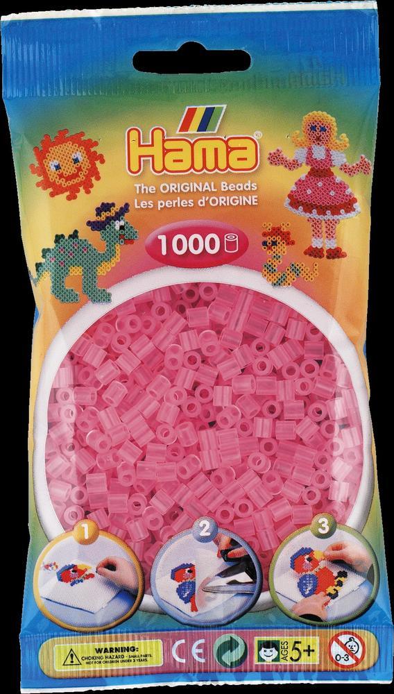 Sachet 1000 perles Hama - MIDI - Rose transparent - 20772