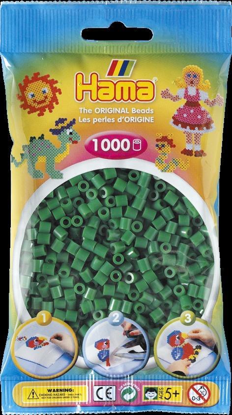 Sachet 1000 perles Hama - MIDI - vert - 20710