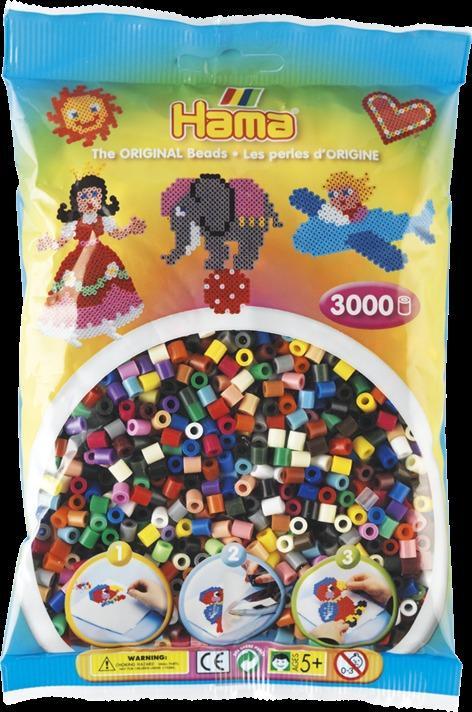 Sachet 3000 perles Hama - MIDI - colorées - 20167