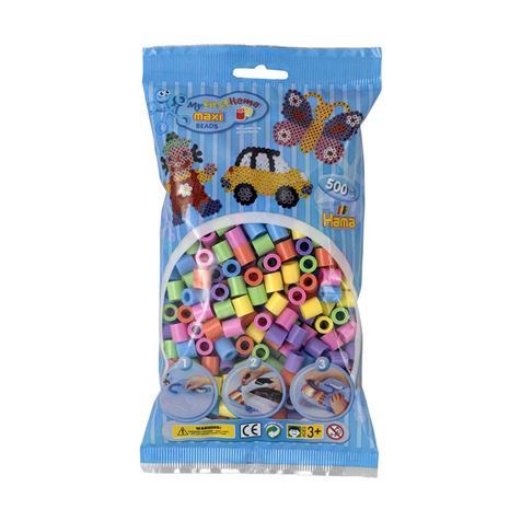 Sachet 500 perles Hama - maxi multicolores - 8471