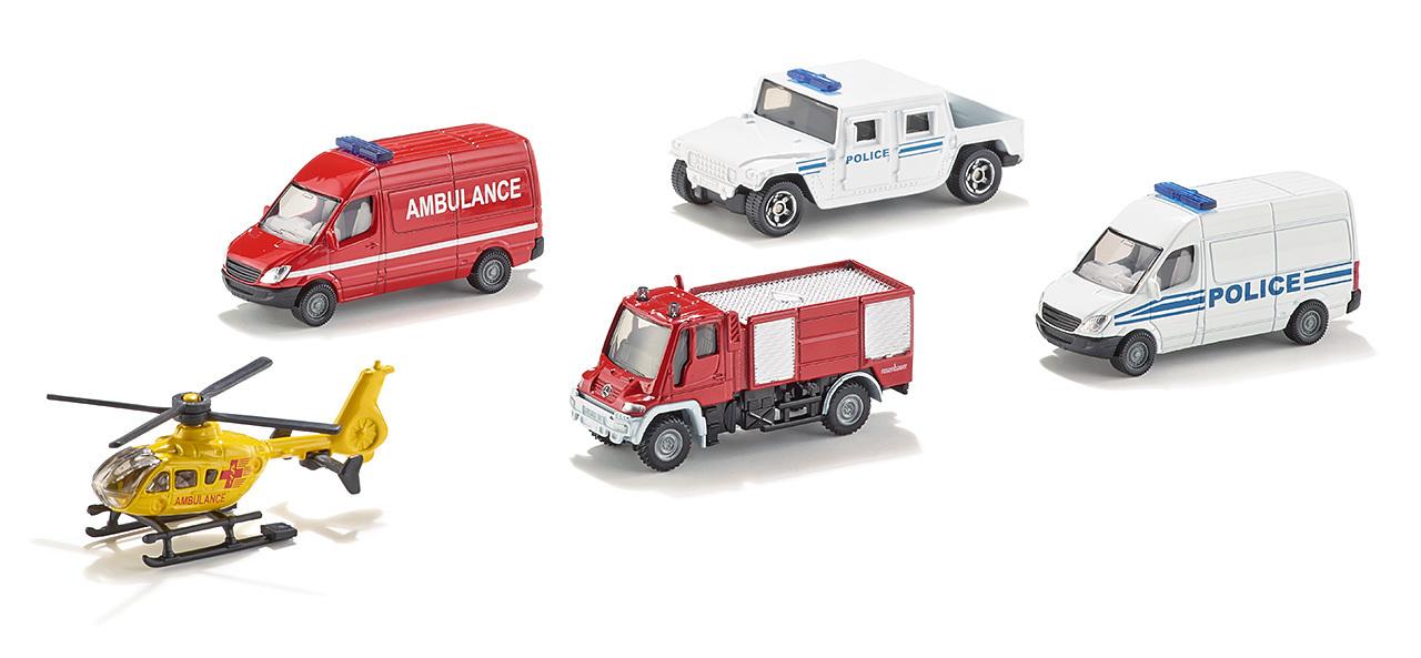 5 véhicules miniatures de secours - Siku - Modèle 6289