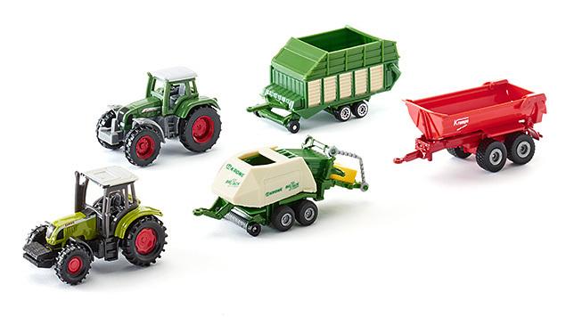5 véhicules miniatures agricoles - Siku - Modèle 6286