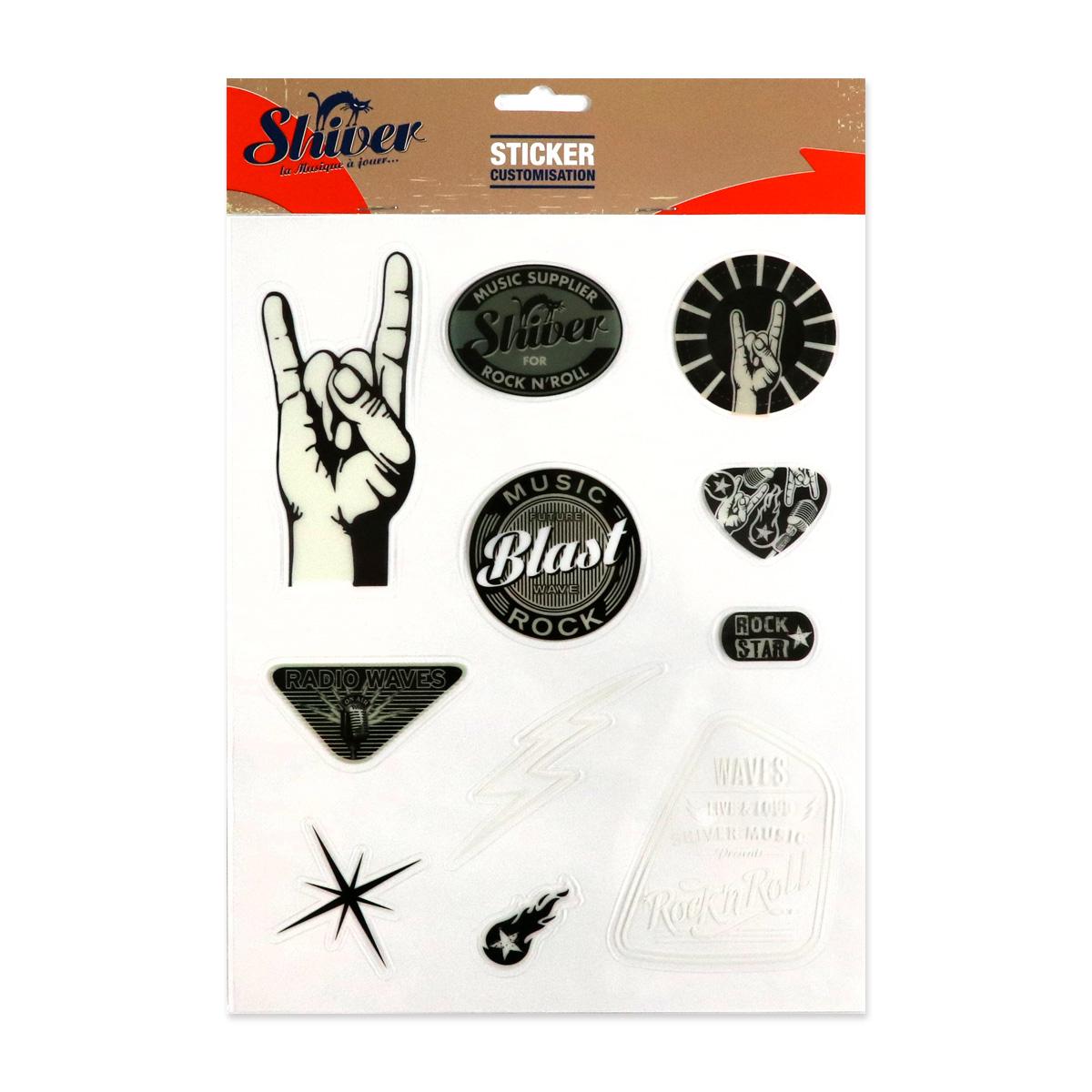 Stickers pour guitare - thème Rock Vintage