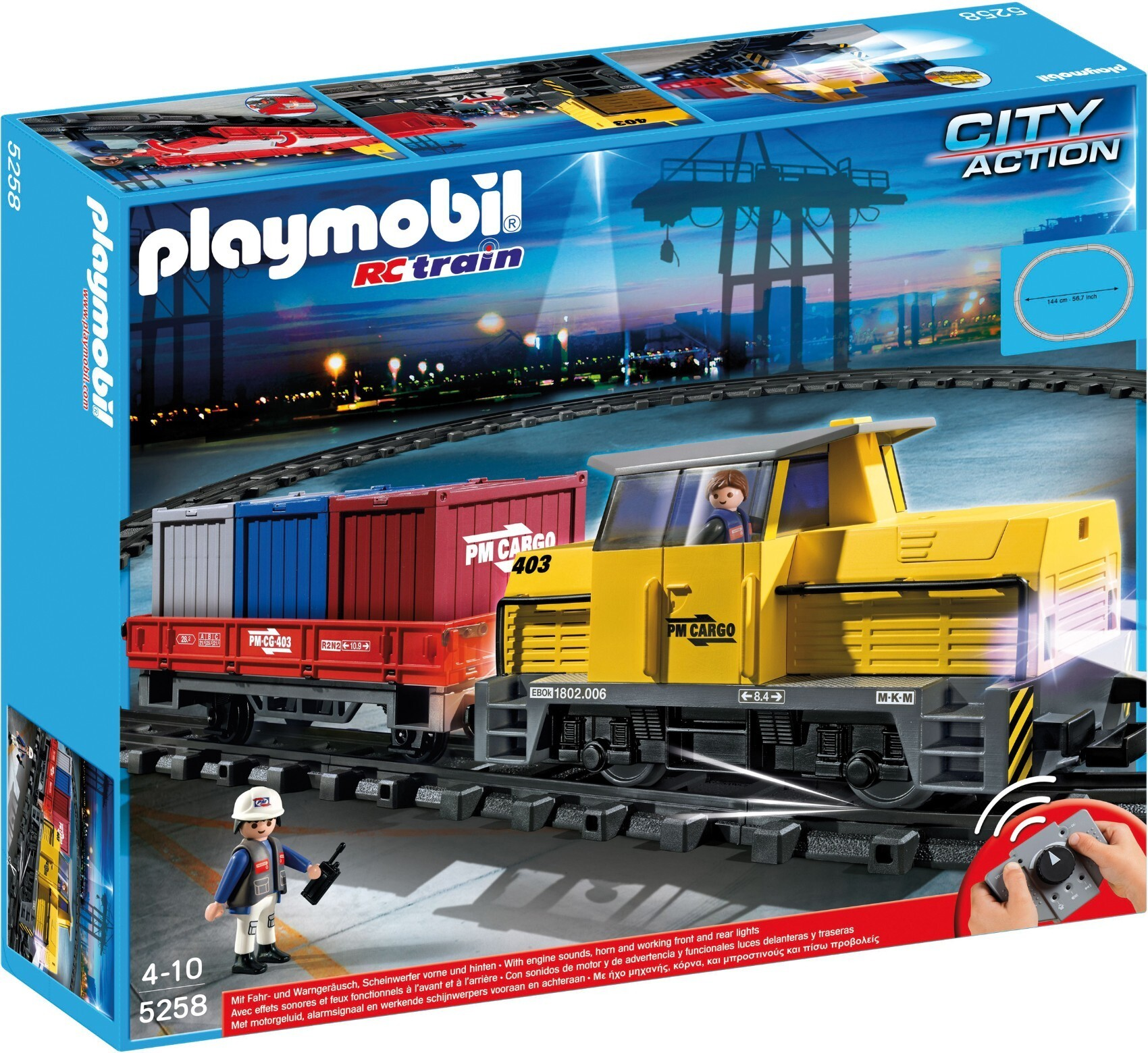 Train porte-conteneurs radio-commandé - Playmobil City Action 5258