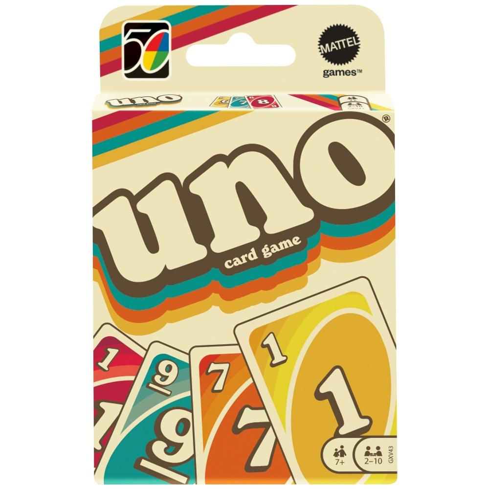 Boite de GAMES Mattel Games - Uno Iconic - Jeu de cartes Famille - Dès 7 ans