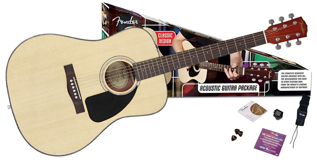 Fender - Pack acoustique CD-60 Naturel