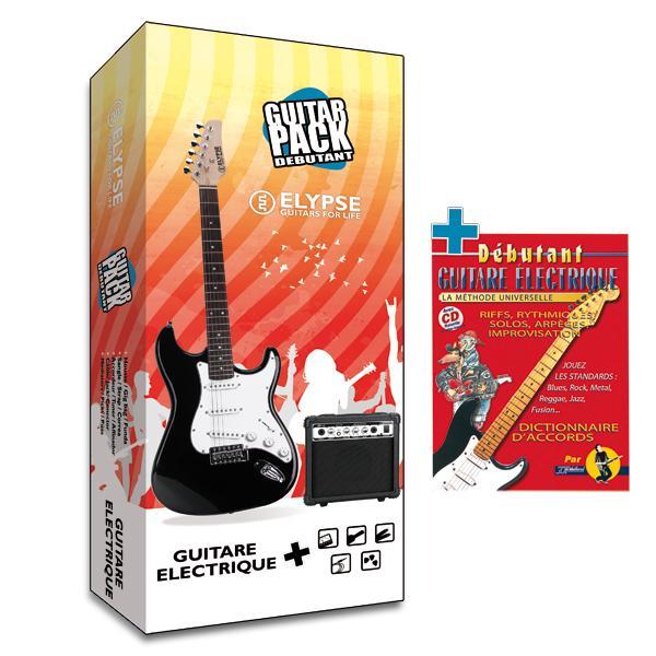 Pack guitare électrique Vénus Noire avec méthode