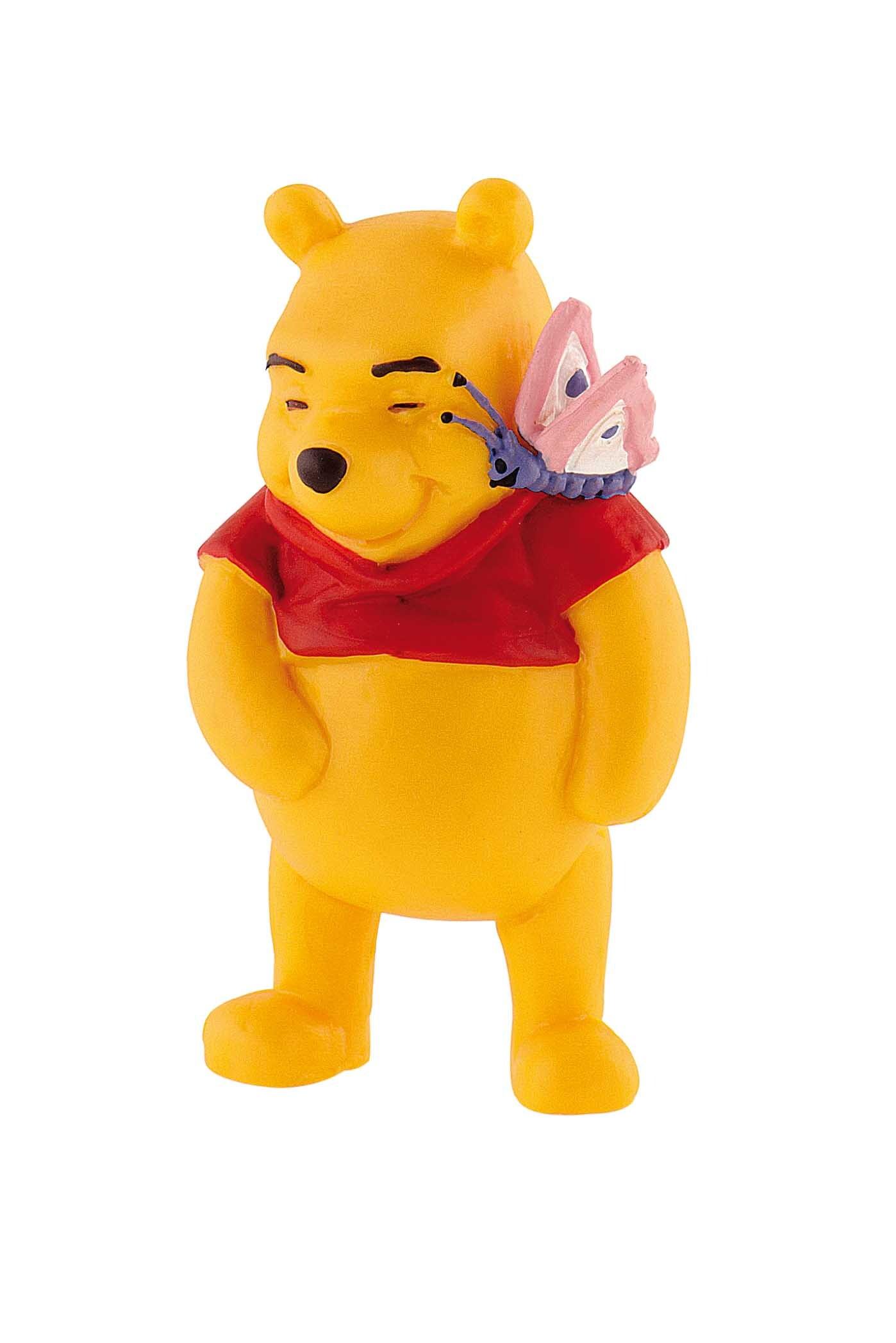 Figurine Winnie l'Ourson avec papillon Disney - 7 cm