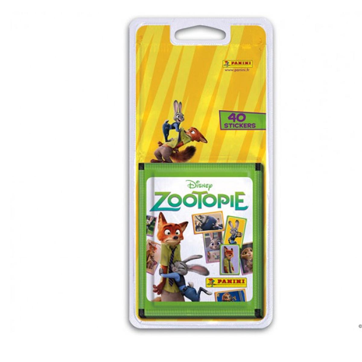 40 stickers Panini - Zootopie - 8 pochettes