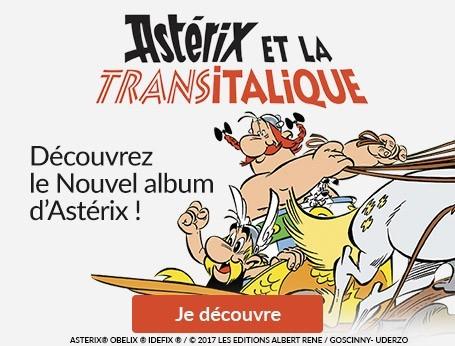 Astérix et la Transitalique ! Nouvel album