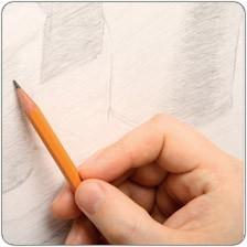 Milieu du crayon