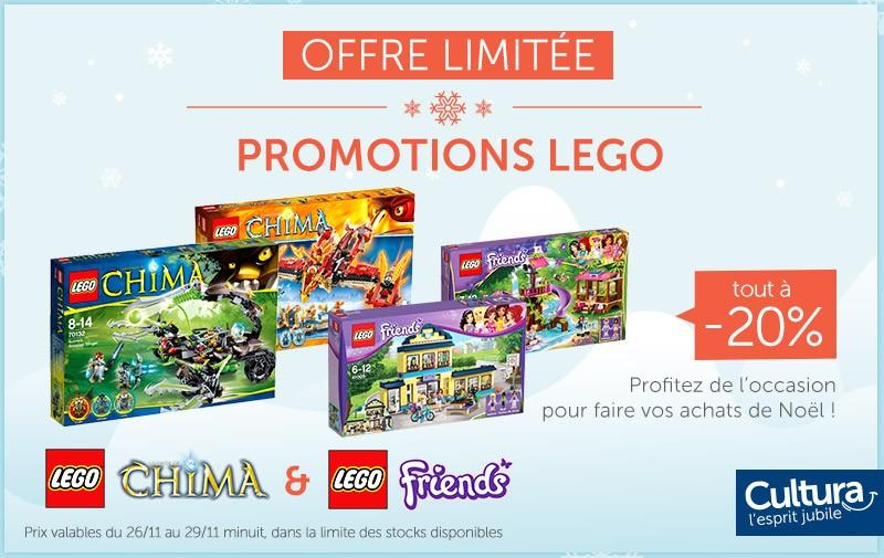 PROMOTION LEGO : Tout à -20% sur les gammes Chima et Friends