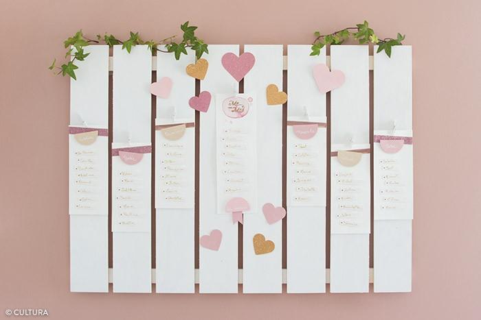 mariage romantique plan de table loisirs cr atifs pas pas cr atifs cultura. Black Bedroom Furniture Sets. Home Design Ideas