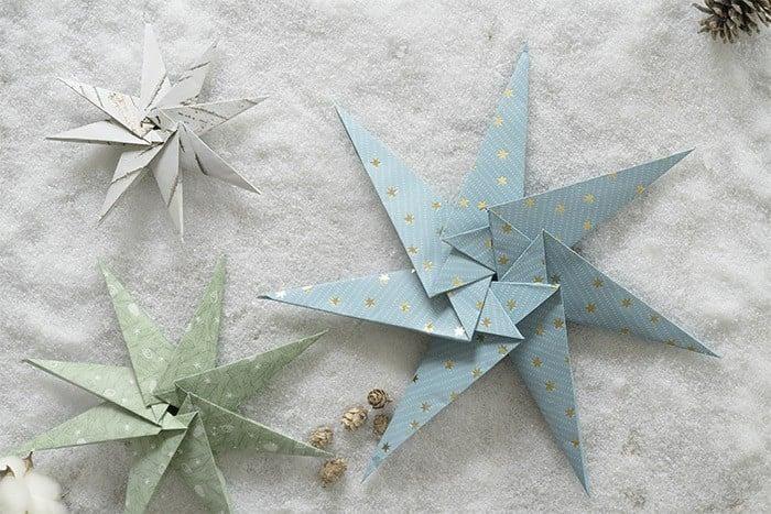 Etoiles En Origami Idées Déco Sapin De Noël Idées Déco