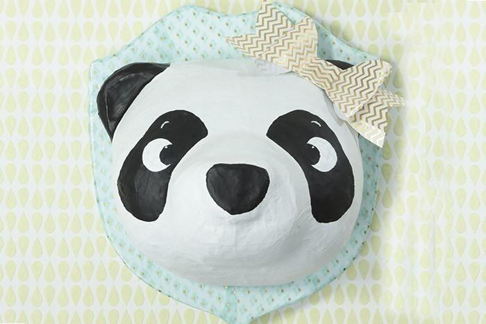 Trophee Panda En Decopatch Deco Chambre Enfant Theme