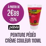 promotion peinture PEBEO -25% creme couleur 110ml