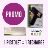 promotion artémio 1 pistolet acheté = 1 recharge offerte