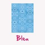 feuille décopatch couleur bleu