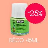 promo peinture pebeo déco 45ml -25%