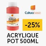 -25% pot acrylique 500ml cultura basic