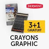 3+1 crayons graphic Derwent
