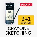 3+1 crayons Sketching derwent