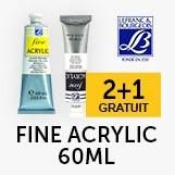 2+1 gratuit gamme fine acrylique 60ml Lefranc&Bourgeois
